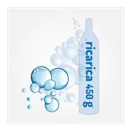 Bombola di ricambio CO2 Gasatore 450g - SPEDIZIONE GRATIS - Wassermaxx Soda Stream Breezy Happy Frizz Imetec Beghelli