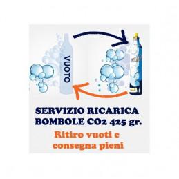SERVIZIO RICARICA 24H Bombola Gasatore 1 pezzo SPEDIZIONE GRATIS Wassermaxx Soda Stream Breezy Happy Frizz Imetec Beghelli