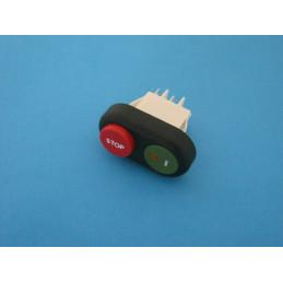 306 Interruttore con led doppio pulsante sicurezza per affettatrice CE - DOM RGV