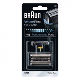 81625466 Combi Lamina e blocco coltelli Gruppo radente testina rasoio Braun 8000 Serie 5 Waterflex 51B Black - Nero