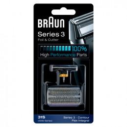81387940 Gruppo radente lama coltello testina Braun Combi rasoio 31S Silver - Grigio Serie 3 5000/6000 Contour Flex XP Flex Inte